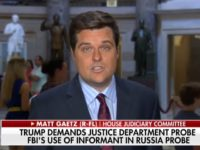 GOP Rep Gaetz: White House Not Fully Informed Regarding the Extent to Which Intel Was Collected on Trump Campaign