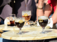 People drink beers at a terrace in Brussels on April 9, 2015. In the fight against drinking and alcoholism, European lawmakers have taken the first step to label calories in beer, wine and whiskey, but the project still faces resistance from winemaker countries and spirits lobbies. The European Parliament has …