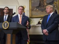 WASHINGTON, DC - AUGUST 2: (AFP OUT) Sen. David Perdue (R-GA) makes an announcement on the introduction of the Reforming American Immigration for a Strong Economy (RAISE) Act in the Roosevelt Room at the White House on August 2, 2017 in Washington, DC. The act aims to overhaul U.S. immigration …