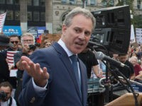 "NY Attorney General Eric Schneiderman speaks at a rally to defend DACA on September 5, 2017 in New York. US President Donald Trump ended an amnesty protecting 800,000 people brought to the US illegally as minors from deportation. ""I am here today to announce that the program known as DACA that was effectuated under the Obama Administration is being rescinded,"" US Attorney General Jeff Sessions announced. / AFP PHOTO / Bryan R. Smith (Photo credit should read BRYAN R. SMITH/AFP/Getty Images)"