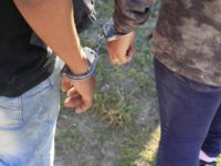 Illegal immigrants arrested by Border Patrol agents.