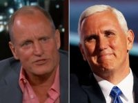 Woody Harrelson and Mike Pence