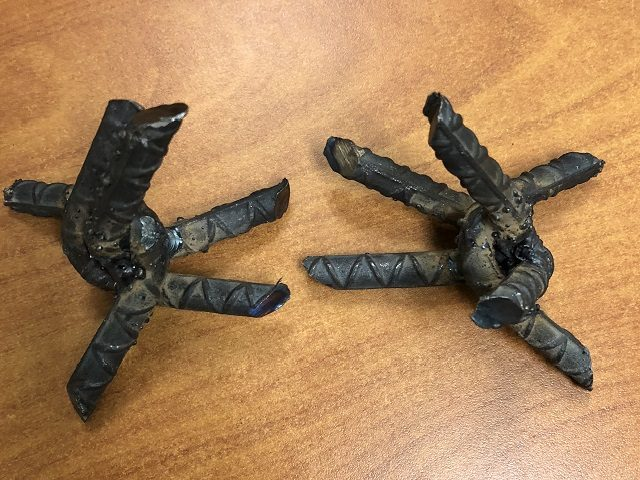 Caltrops used by alleged drug smugglers to attempt to deflate tires of Border Patrol vehicles. (Photo: U.S. Border Patrol)