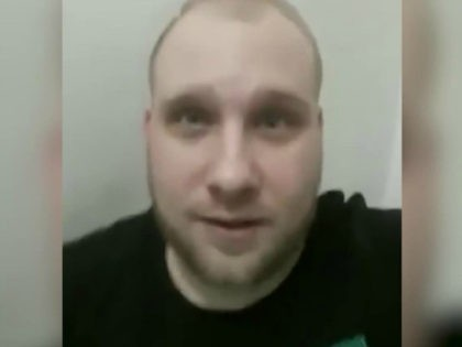 Joshua Holt of Utah is seen in Venezuela's Helicoide prison in an image made from video posted to his Facebook account on May 16, 2018.
