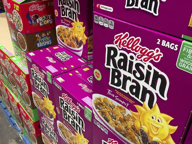 Boxes of Kellogg's cereals including Froot Loops, Cocoa Krispies and Raisin Bran are seen at a store in Arlington, Virginia, December 1, 2016. Kellogg's is facing a boycott organized by the Trump-aligned Breitbart News after the cereal giant decided to pull its advertising from the website. In the latest clash …