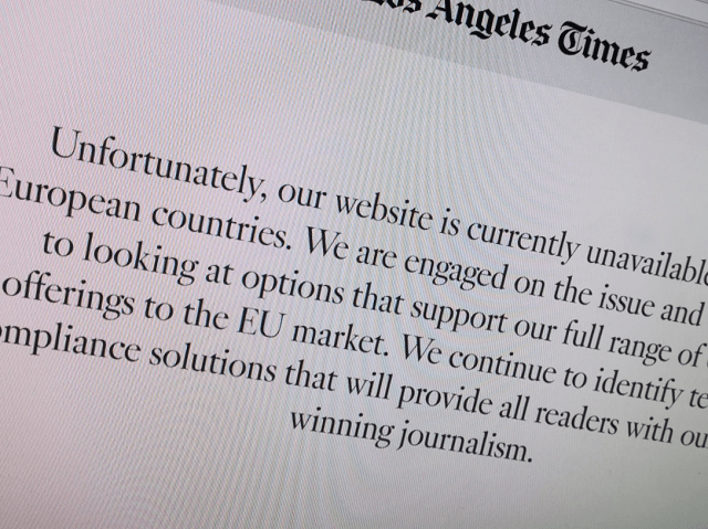 Some US websites are blocked in the European Union  as GDPR day arrives
