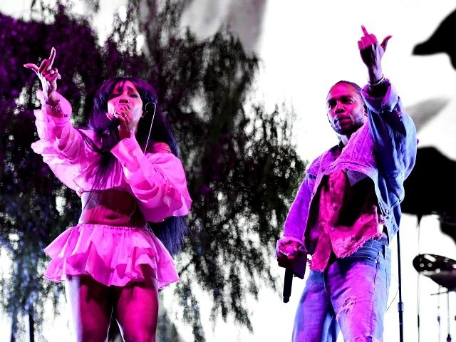 SZA and Kendrick Lamar perform onstage during the 2018 Coachella Valley Music And Arts Festival at the Empire Polo Field on April 13, 2018 in Indio, California. (Photo by Larry Busacca/Getty Images for Coachella)