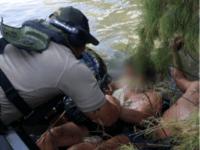 Laredo Sector Agents Rescue Migrant in Rio Grande River. (Photo: U.S. Border Patrol/Laredo Sector)