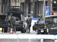 Belgian Special Police at the scene of a shooting in Liege, Belgium, Tuesday, May 29, 2018. A gunman killed three people, including two police officers, in the Belgian city of Liege on Tuesday, a city official said. Police later killed the attacker, and other officers were wounded in the shooting.(AP …
