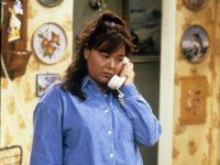 "Production still from ""Roseanne,"" the ABC sitcom starring Roseanne Barr which aired 1988-1997, then was briefly rebooted in 2018."