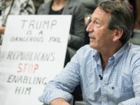 Rep. Mark Sanford (R-SC) waits for his introduction during a town hall meeting March 18, 2017 in Hilton Head, South Carolina. Protestors have been showing up in large numbers to congressional town hall meetings across the nation. (Photo by Sean Rayford/Getty Images)