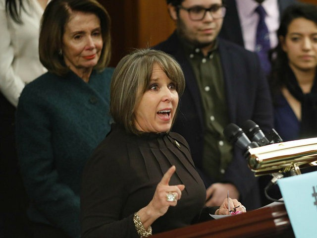 WASHINGTON, DC - JANUARY 18: Rep. Michelle Lujan Grisham (D-NM) speaks at a press conference calling for the passage of the Dream Act at the U.S. Capitol January 18, 2018 in Washington, DC. Without legislative action thousands of recipients of the Dream Act will be at risk of deportation. (Photo …