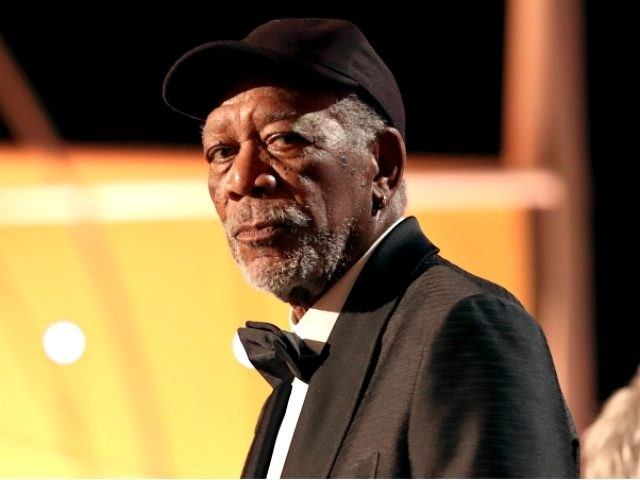 Honoree Morgan Freeman accepts the Life Achievement Award onstage during the 24th Annual Screen Actors Guild Awards at The Shrine Auditorium on January 21, 2018 in Los Angeles, California. 27522_010 (Photo by Christopher Polk/Getty Images for Turner)