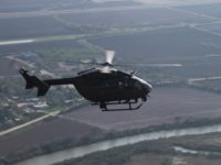 National Guard Lakota LUH-72 helicopter patrols along Texas border with Mexico. (U.S. National Guard File Photo-Major Will Cox)