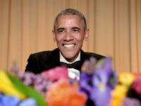 US President Barack Obama smiles at the annual White House Correspondent's Association Gala at the Washington Hilton hotel April 25, 2015 in Washington, D.C. The dinner is an annual event attended by journalists, politicians and celebrities. (Photo by Olivier Douliery-Pool/Getty Images)