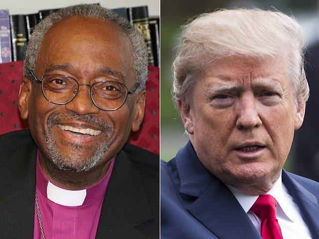 Rev Michael B. Curry and Pres. Donald J. Trump