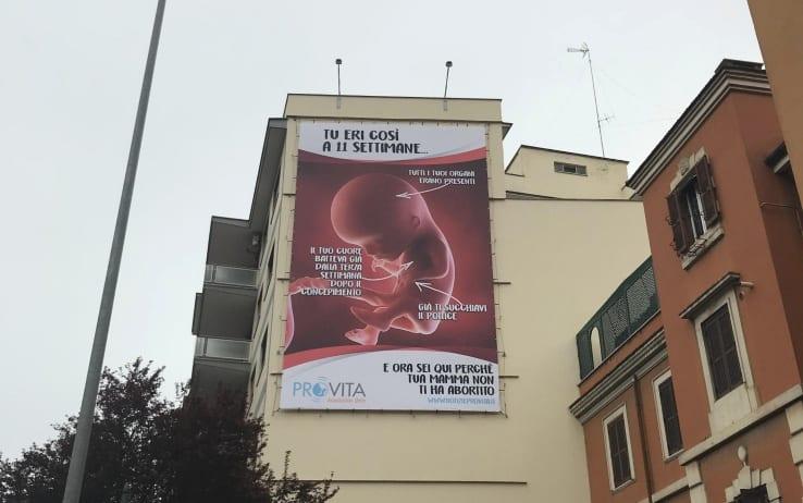 Rome pro-life billboard
