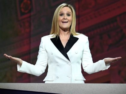 Host Samantha Bee speaks onstage during Full Frontal With Samantha Bee's Not The White House Correspondents' Dinner at DAR Constitution Hall on April 29, 2017 in Washington, DC. (Photo by Dimitrios Kambouris/Getty Images for TBS)