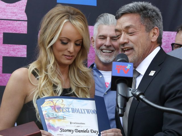 Stormy Daniels and John Duran (Ringo H.W. Chiu / Associated Press)