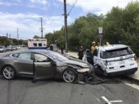 Tesla crash (Laguna Beach Police Department via AP)