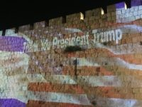 'Thank You President Trump' on Walls of Jerusalem on Eve of Embassy Mo