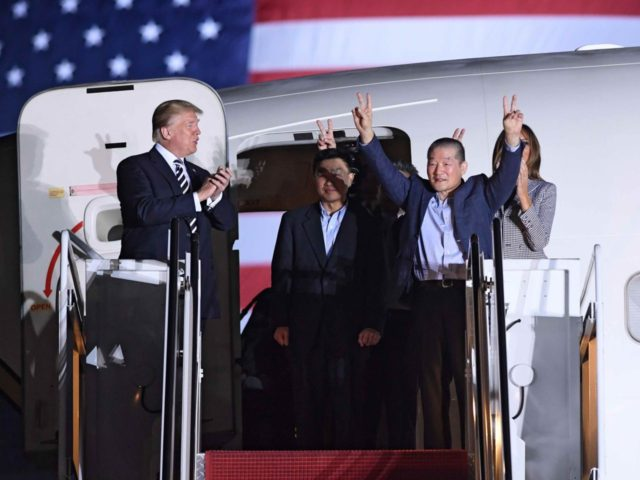 Trump welcomes back Americans freed by North Korea