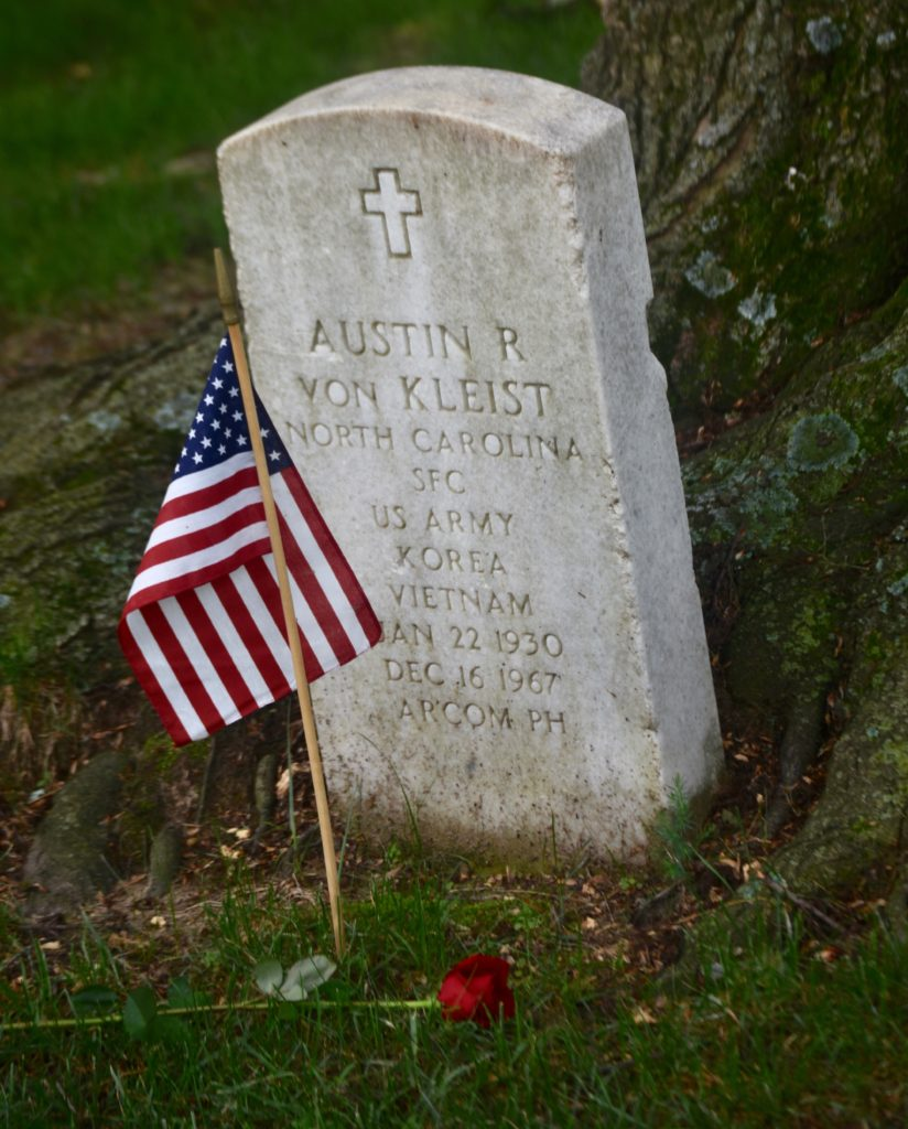 Every grave at Arlington National Cemetery was decorated with an American flag and a single rose (Penny Starr/Breitbart News).