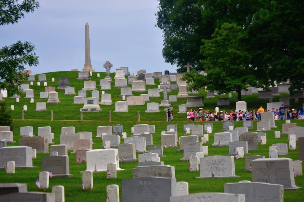 Millions of people from around the globe visit Arlington National Cemetery each year and is a popular destination on Memorial Day weekend (Penny Starr/Breitbart News).