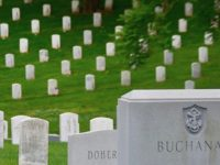 The sea of graves is a stunning view inside Arlington National Cemetery (Penny Starr/Breitbart News).