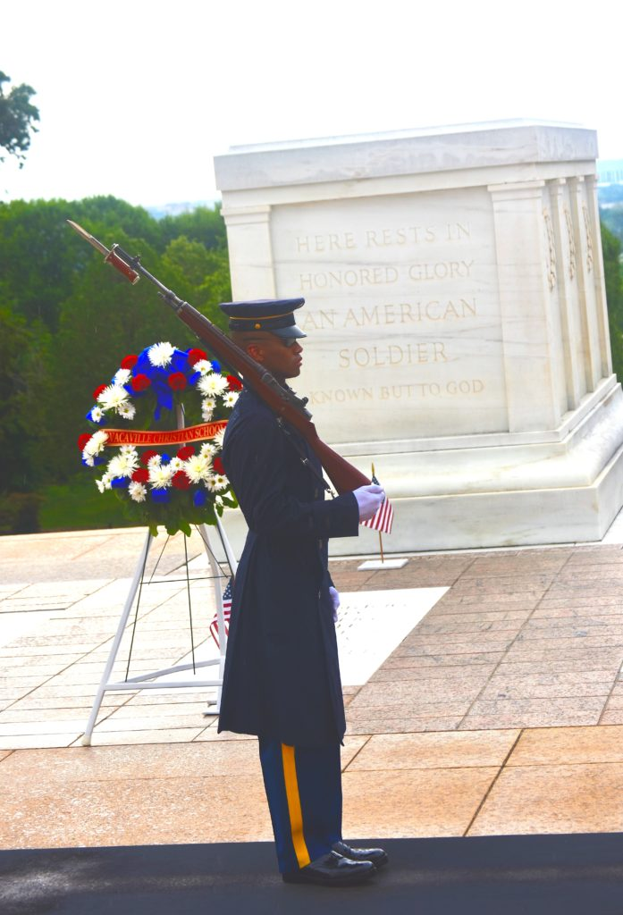 The Tomb of the Unknown Soldier at Arlington National Cemetery is guarded 24 hours a day every day of the year (Penny Starr/Breitbart News).