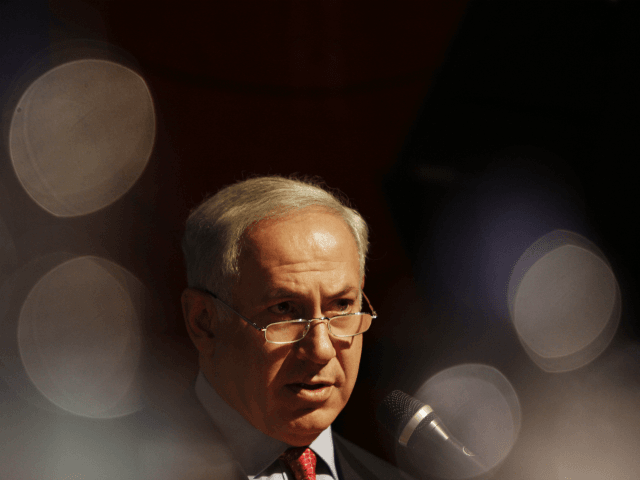 Likud Party leader Benjamin Netanyahu speaks at a meeting with the heads of local regional councils, in Tel Aviv, Israel, Thursday, Feb. 5, 2009. General elections in Israel are scheduled for Feb. 10 and pre-election polls show Netanyahu with a lead over Foreign Minister and Kadima Party leader Tzipi Livni.(AP …
