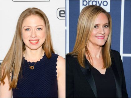 Chelsea Clinton and Samantha Bee