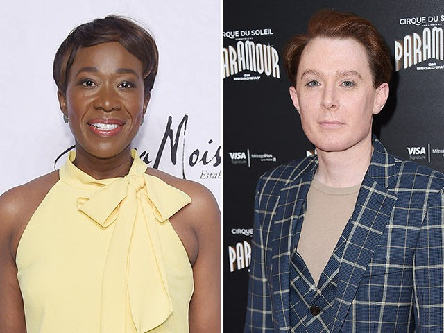 MSNBC host Joy Reid and Clay Aiken.