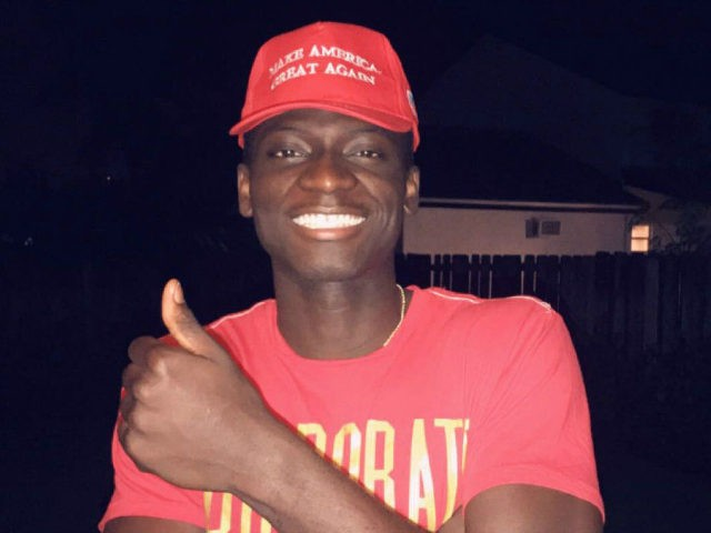 "Eugenior Joseph was verbally assaulted because he was wearing a Donald Trump ""Make America Great Again"" cap at a Cheesecake Factory in Miami, Florida."