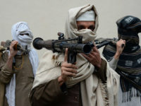 Former Afghan Taliban fighters carry their weapons before handing them over as part of a government peace and reconciliation process at a ceremony in Jalalabad on January 12, 2016. More than a dozen former Taliban fighters from Ghani district of Nangarhar province handed over their weapons as part of a …