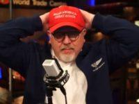 """Glenn Beck wearing a """"Make America Great Again"""" hat."""