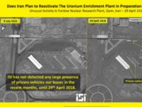 "An Israeli satellite imaging company on Thursday released images showing what it described as ""unusual"" movement around the Iranian Fordo nuclear facility, a one-time uranium enrichment plant buried deep underground that was converted to a research center as part of the 2015 nuclear deal."