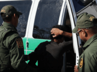 Border Patrol agents arrest illegal immigrant near Texas border.