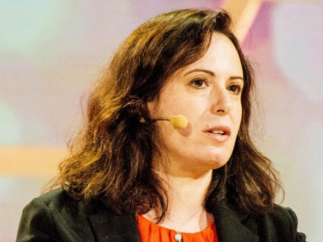 "Journalist Maggie Haberman, White House correspondent for the New York Times, speaks at the ""Nobel Week Dialogue: the Future of Truth"" conference at Svenska Mässan on Dec. 9 in Gothenburg, Sweden. Julia Reinhart/Getty Images"