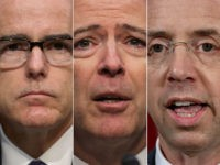 Andrew McCabe, James Comey, and Rod Rosenstein.