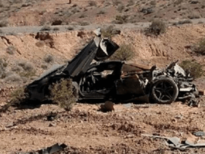 Nevada police find wrecked $300,000 McLaren supercar in the desert, but no one with it