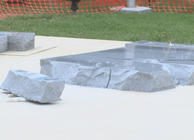 Texas Veterans Monument Mysteriously Damaged			KTXS Screengrab		23 May 2018