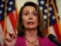 WASHINGTON, DC - MAY 22: House Minority Leader Nancy Pelosi speaks at a news conference at the U.S. Capitol on May 22, 2018 in Washington, DC. Democratic leaders joined leaders of prominent teacher's unions to call for higher pay for teachers and greater investment in public schools. (Photo by Aaron …