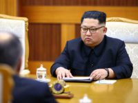 PYONGYANG, NORTH KOREA - MAY 31, 2018: North Korea's Supreme Leader Kim Jong-un during a meeting with Russia's Foreign Minister Sergei Lavrov at Kumsusan Palace of the Sun. Valery Sharifulin/TASS (Photo by Valery Sharifulin\TASS via Getty Images)