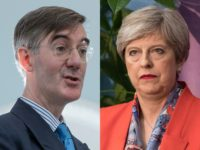 Theresa May and Jacob Rees-Mogg
