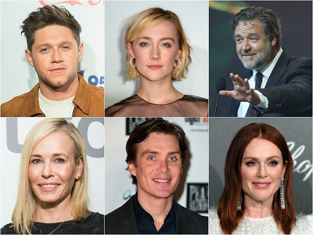 Niall Horan, Saoirse Ronan, Russell Crowe, Chelsea Handler, Cillian Murphy, Julianne Moore