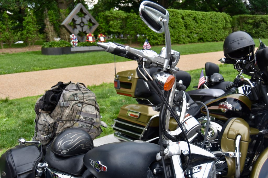 Many of the bikers who took part in the annual Rolling Thunder ride into the nation's capital are in all branches of the U.S. military. (Penny Starr/Breitbart News)