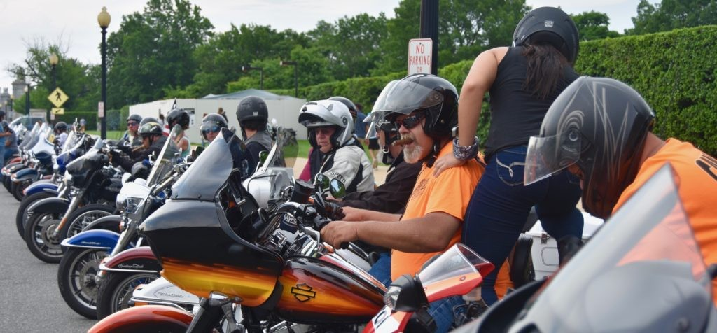 AAA estimated at least 900,000 bikers came to Washington, DC, for Memorial Day weekend to pay respect to U.S. military members who paid the ultimate price for our freedoms. (Penny Starr/Breitbart News)