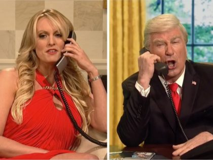 """A star-studded """"Saturday Night Live"""" cold open lampooned theongoing Stormy …"""