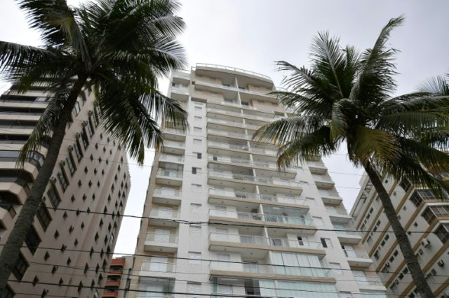 The Solaris luxury seaside building where jailed former Brazilian President Luiz Inacio Lula da Silva allegedly owns a triplex apartment that he received as a bribe, a charge he denies